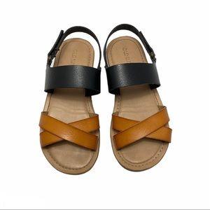 OLD NAVY Girl's Brown & Black Sandals Size 11